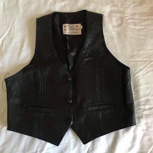 Cropped Leather Vest